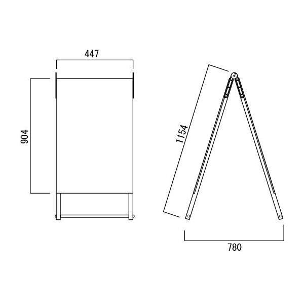 看板 店舗用看板 A型サイン 特注自立式看板 両面型 AサインS-1.5×3 H904×W447mm|anzen-signshop|02