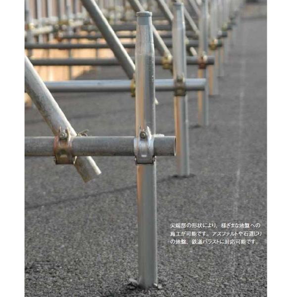 単管杭 くい丸 打ちこみ専用鋼管材 直径48.6mm 長さ 1100mm 君岡鉄工 anzen-signshop 04