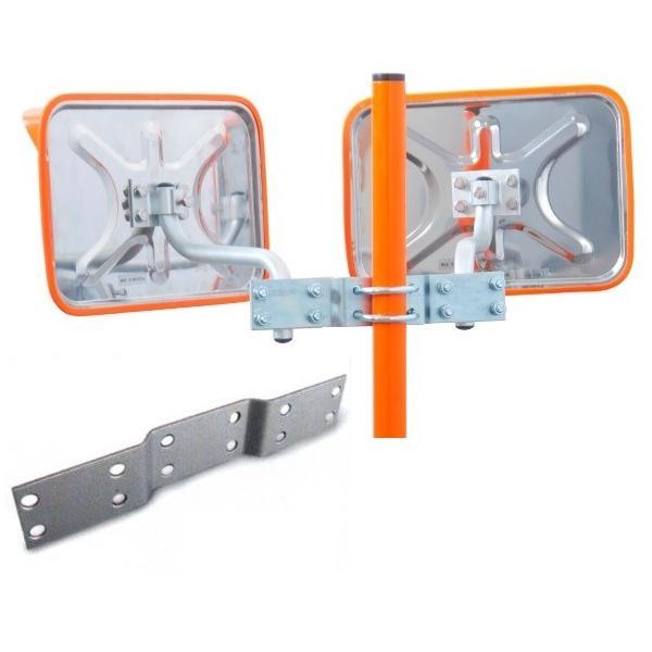 角型カーブミラーステンレス製 2面鏡 350×450mm ナック・ケイ・エス|anzen-signshop|02