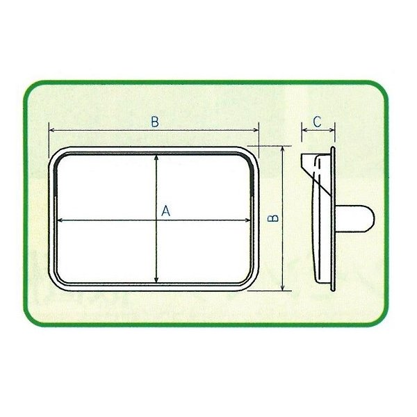角型カーブミラーステンレス製 2面鏡 350×450mm ナック・ケイ・エス|anzen-signshop|04