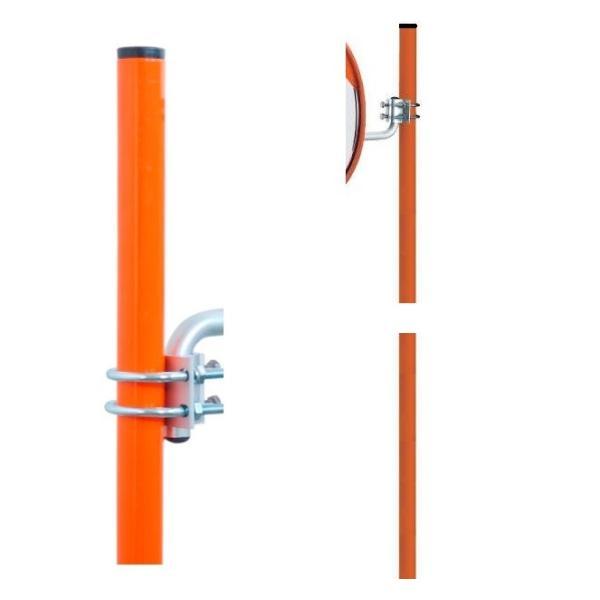 ミラー取付金具用 直径34.0mm 長さ 240cm スチールパイプ ナック・ケイ・エス anzen-signshop 02