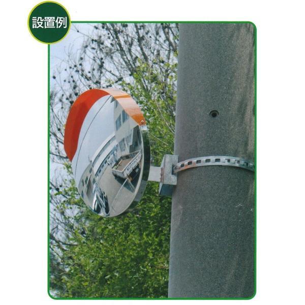 カーブミラー・電柱用 取付金具 支柱部分直径48.6mm ナック・ケイ・エス|anzen-signshop|02