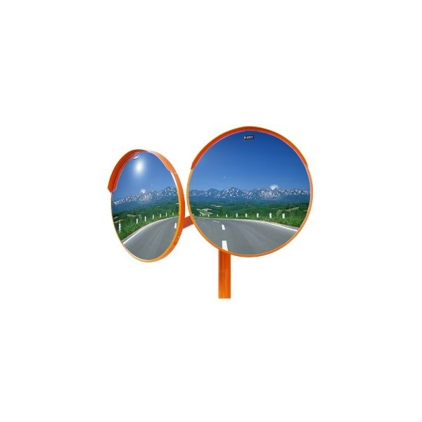 アクリル製カーブミラー 2面鏡 300φ 支柱付き 道路反射鏡 ナック・ケイ・エス anzen-signshop