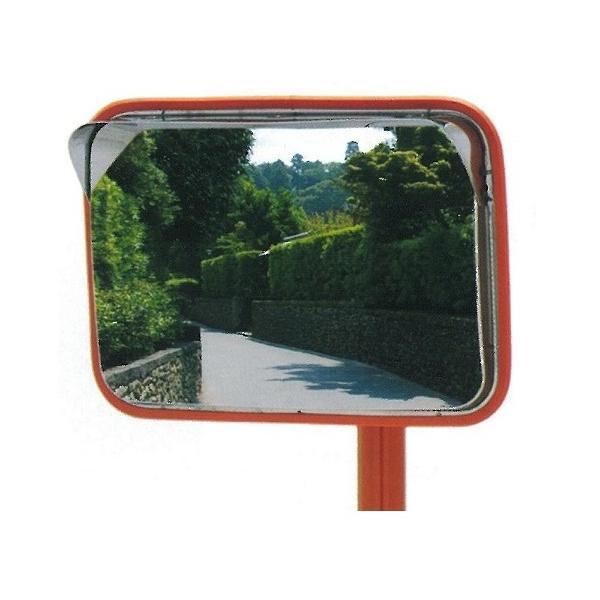 角型カーブミラーステンレス製 195x295mm 道路反射鏡 ナック・ケイ・エス|anzen-signshop