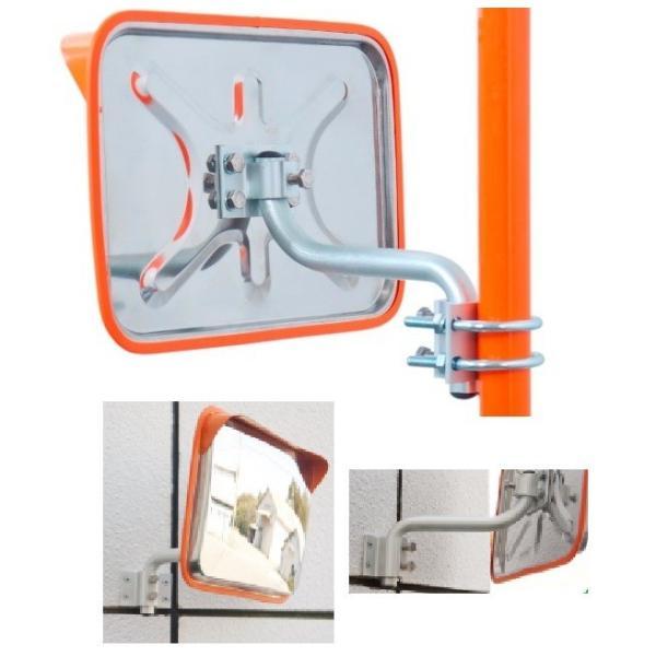 角型カーブミラーステンレス製 195x295mm 道路反射鏡 ナック・ケイ・エス|anzen-signshop|02