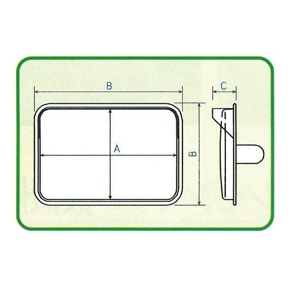 角型カーブミラーステンレス製 195x295mm 道路反射鏡 ナック・ケイ・エス|anzen-signshop|04