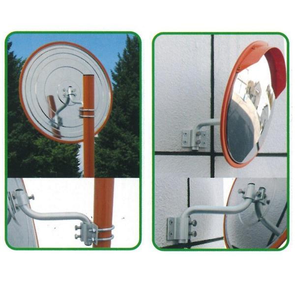 ステンレス製カーブミラー 320φ 支柱付き 道路反射鏡 ナック・ケイ・エス anzen-signshop 02