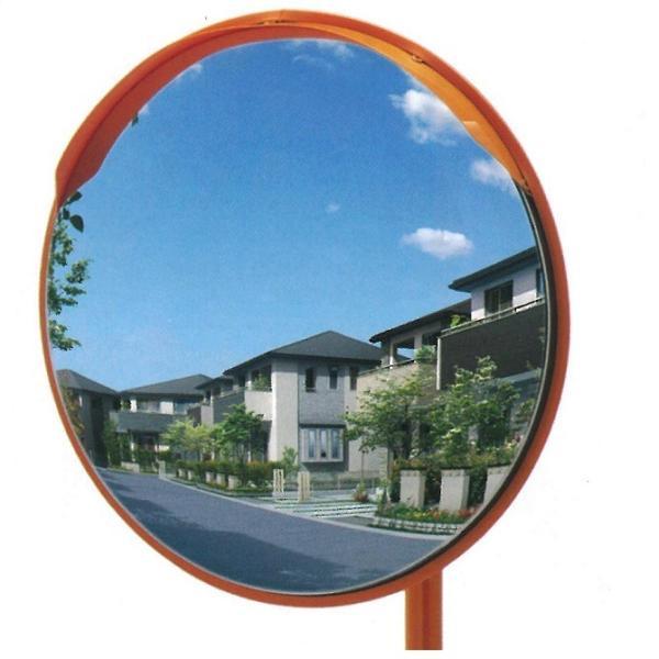 カーブミラー 丸型 490φ ステンレス製 支柱付き 道路反射鏡 ナック・ケイ・エス anzen-signshop