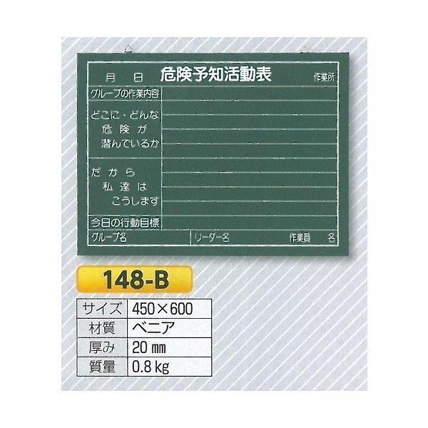 危険予知活動表 黒板 工事用安全管理・ミーティング用黒板 450×600mm 148-B  anzen-signshop