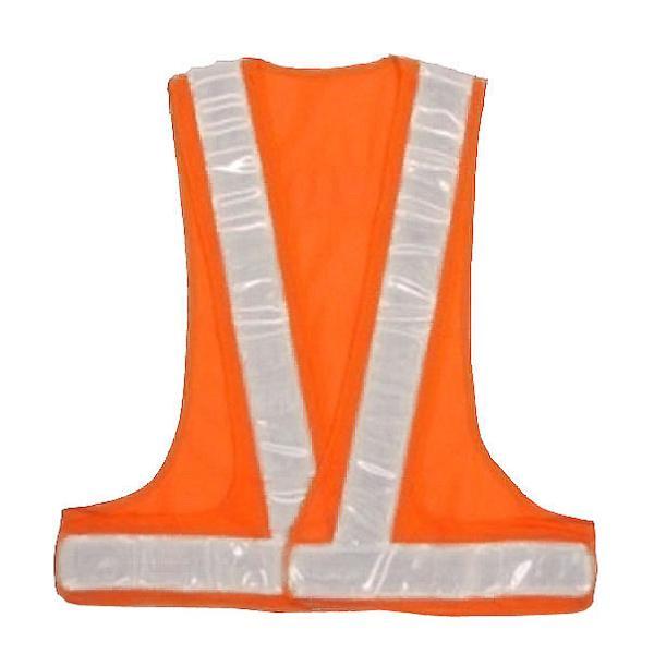 安全ベスト 安全チョッキ(テープ幅 60mm) オレンジメッシュ/白銀色テープ V60-OW寒冷地対応反射テープ使用
