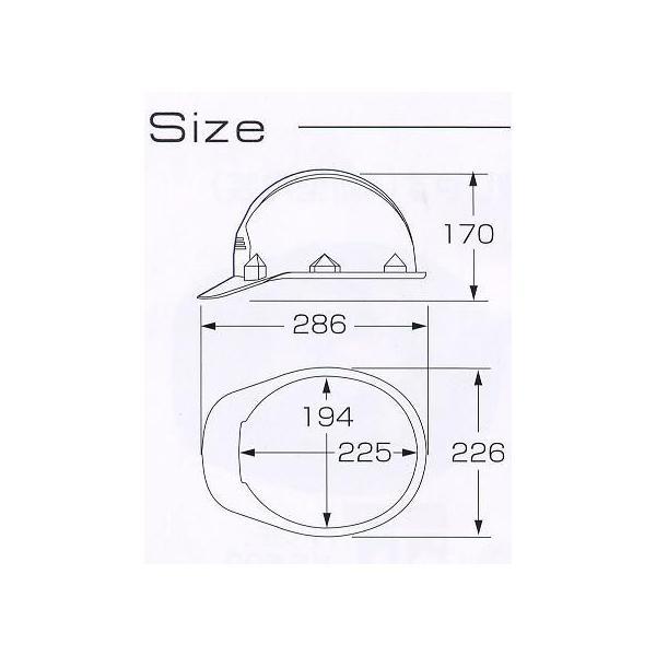快適度バツグン 高い通気性・ムレ無しヘルメット 墜落時保護(スチロール入り)ヘルメット レジャー・防災・工事用 FF-1F|anzen-signshop|04
