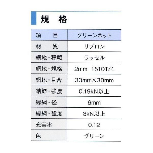 グリーンネット 30mm目 養生グリーンネット 5×5 5枚セット(送料無料 一部地域除く)|anzen-signshop|02