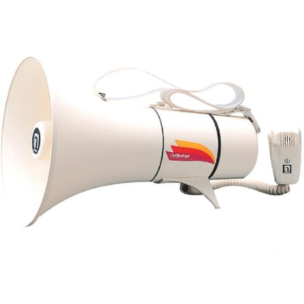 メガホン ショルダー型 ホイッスル音付 トランジスターメガホン 13W TM-208(送料無料 一部地域除く)