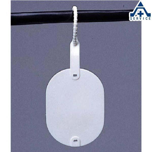 配線用タグ ワンタッチカラーエフ 無地 10枚セット 477-17  電気ケーブル用 ネームタグ ケーブルタグ