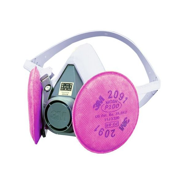 3M 取替え式半面形防塵RL3マスク 6000DDSR/2091-RL3 1箱