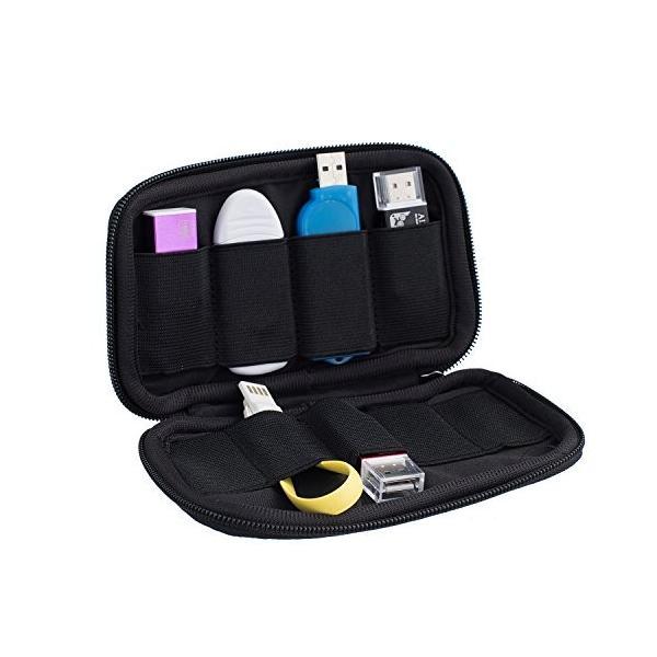iColor 機能性 USBフラッシュメモリ専用収納ケース/ポーチ インナーバッグ ソフトケース 充電ケーブル収納 小分け (USB-08) aobashop 03