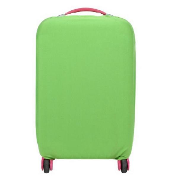 スーツケースカバー 伸縮素材 【DauStage】 キャリーケース バッグ カバー 選べる 8色 3サイズ ナイロン製リュック付き (03,グリーン |aobashop