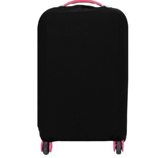 スーツケースカバー 伸縮素材 【DauStage】 キャリーケース バッグ カバー 選べる 8色 3サイズ ナイロン製リュック付き (20,ブラック |aobashop