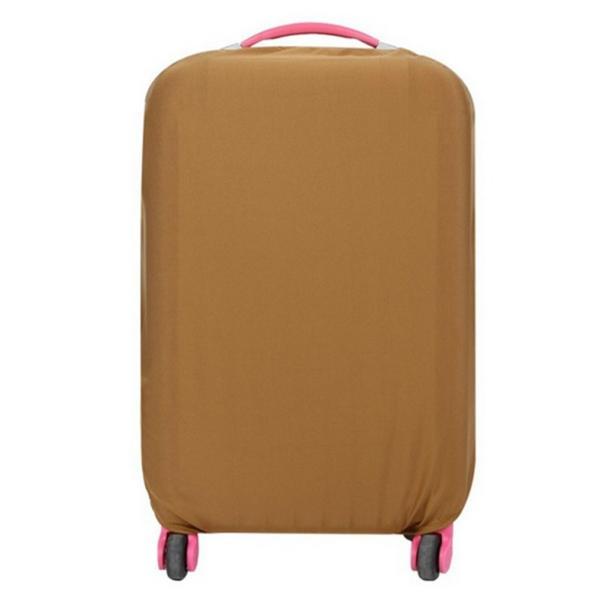 スーツケースカバー 伸縮素材 【DauStage】 キャリーケース バッグ カバー 選べる 8色 3サイズ ナイロン製リュック付き (22,ブラウン |aobashop