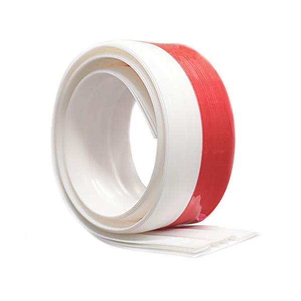 KTJ ドア下部ストリップ ドア下部シールテープ ドアスイープ 半透明 防水 隙間テープ防風 防虫 ソフトなシリコーン (ホワイト)|aobashop
