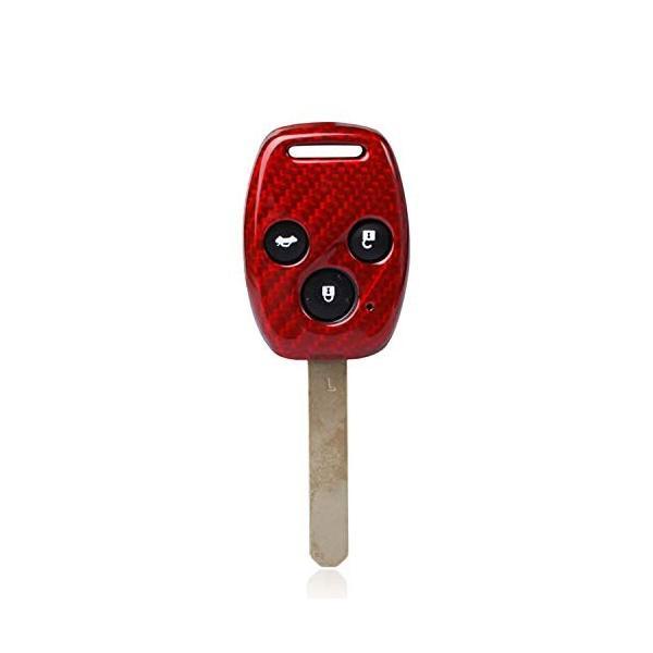 FD2 FD3シビックタイプR 無限仕様 カーボン製キーカバー ホンダ車 2/3ボタン用 希少! (3ボタン 赤)|aobashop