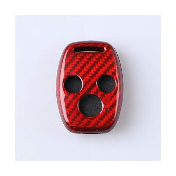 FD2 FD3シビックタイプR 無限仕様 カーボン製キーカバー ホンダ車 2/3ボタン用 希少! (3ボタン 赤)|aobashop|03