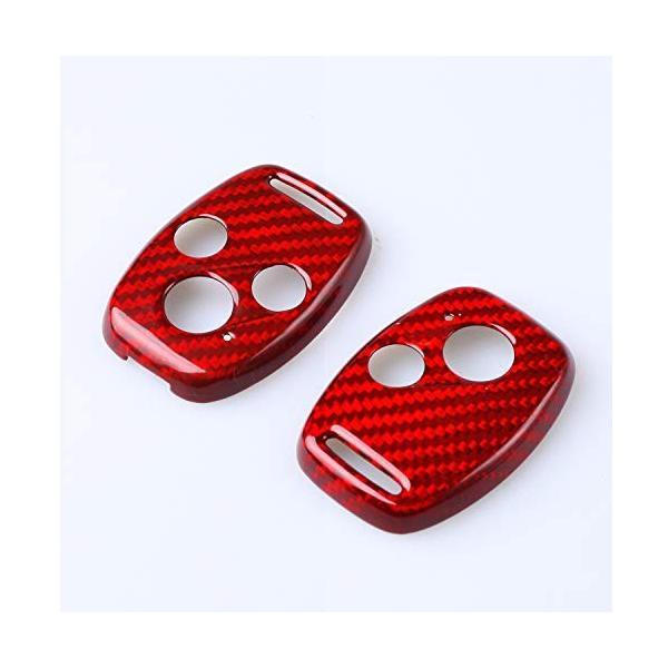 FD2 FD3シビックタイプR 無限仕様 カーボン製キーカバー ホンダ車 2/3ボタン用 希少! (3ボタン 赤)|aobashop|04