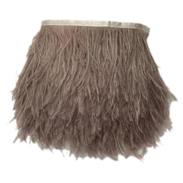 KOLIGHTパック10ヤード天然染めダチョウの羽 (10~15センチメートル)DIYのドレスの縫製工芸品のコスチューム装飾の縁取りをトリミング (黄