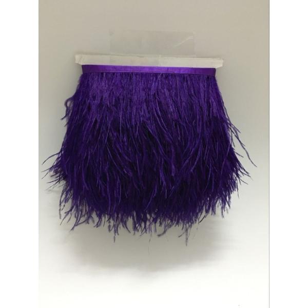 KOLIGHTパック2ヤード自然染めダチョウの(10?13センチメートル)DIYのドレスの縫製工芸品のコスチューム装飾のトリミングフリンジ (紫の)