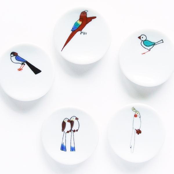小鳥の箸置セットB KUTANI SEAL クタニシール 九谷焼 KS2-41 箸置き 送料200円 1万円以上送料無料|aodama-zakka|17