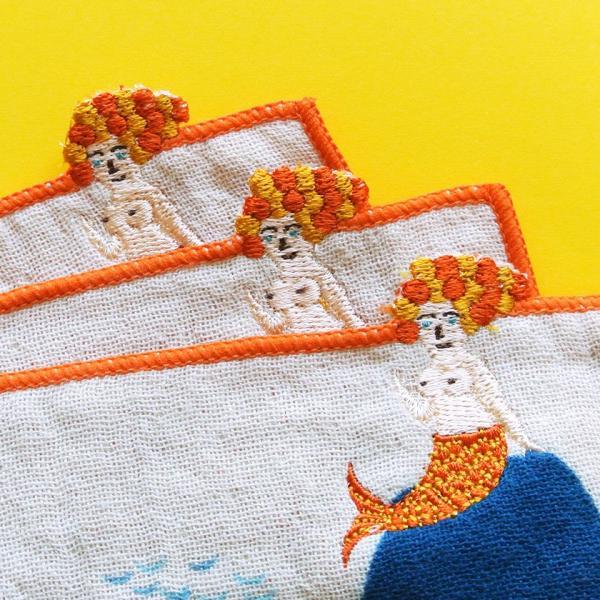 ポケットハンカチ 人魚 トビウオ morita MiW ミニハンカチ 送料200円 1万円以上送料無料|aodama-zakka|16