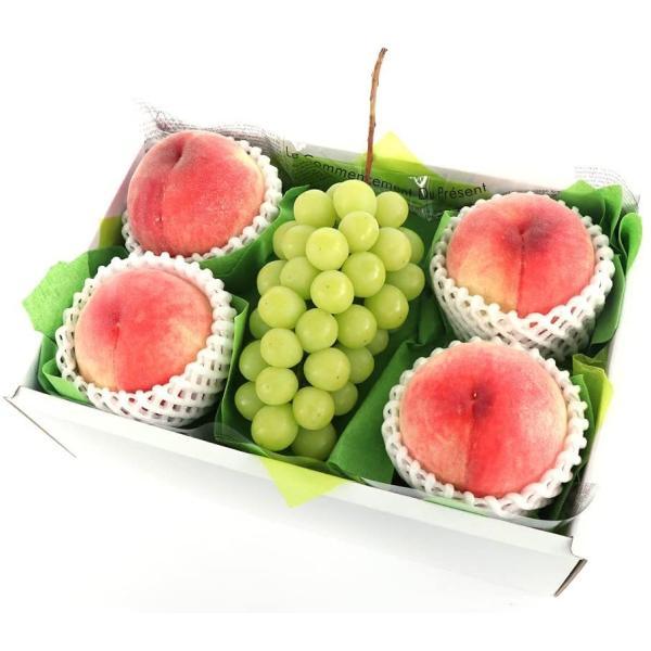 お中元 フルーツギフト 詰め合わせ 贈り物 青木フルーツ フルーツマイスター厳選 シャインマスカット&もも4個[シャインマスカット1房  桃4個 ](クール便)