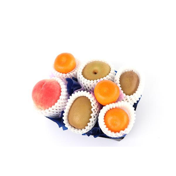 【青木フルーツ】お供え・お悔みフルーツギフトA[梨 桃 みかん キウイフルーツ](常温便)