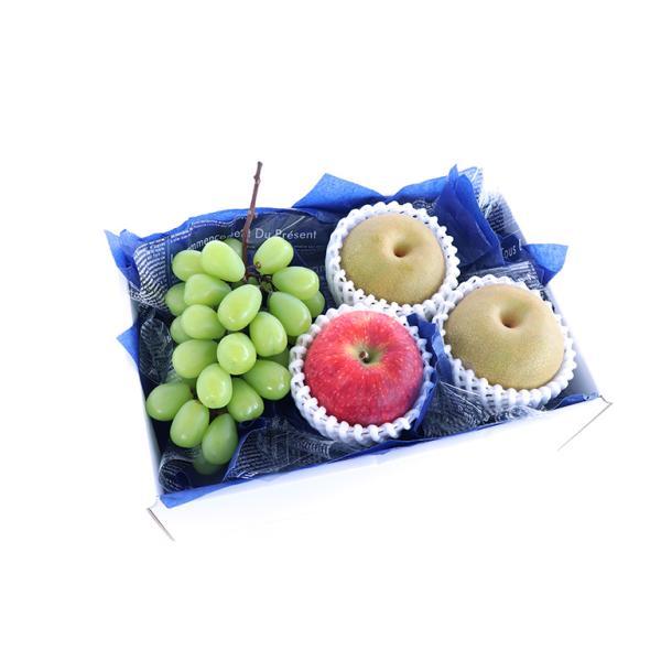 【青木フルーツ】お供え・お悔みフルーツギフトA[梨 りんご シャインマスカット](クール便)