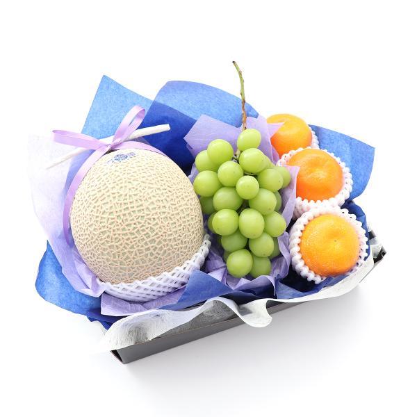 青木フルーツ フルーツギフト 詰め合わせ 贈り物 通販 Gift お供え・お悔み・お盆フルーツギフトD[マスクメロン みかん シャインマスカット](クール便)