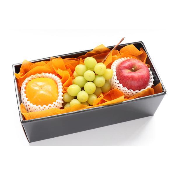 【青木フルーツ】四季の贈り物フルーツギフト11B[りんご 柿 シャインマスカット](クール便)