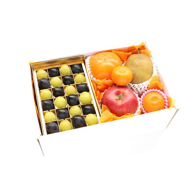 【青木フルーツ】四季の贈り物フルーツギフト11C[りんご 柿 洋梨 みかん シャインマスカット  黒ぶどうまたは赤ぶどう ](クール便)
