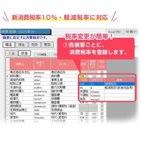 2020年版 らくらく青色申告 農業版 aoshin 04