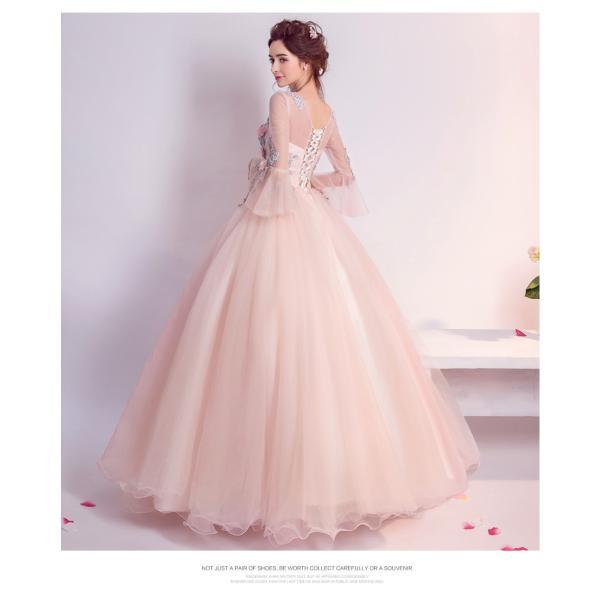 ウェディングドレス 二次会 ウエディングドレス ロング 二次会ドレス パーティードレス ロングドレス 花嫁ドレス カラードレス 結婚式|aozoras|11