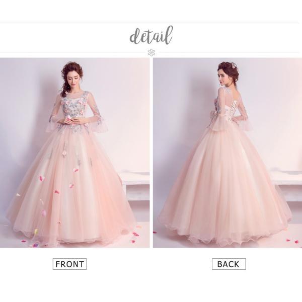 ウェディングドレス 二次会 ウエディングドレス ロング 二次会ドレス パーティードレス ロングドレス 花嫁ドレス カラードレス 結婚式|aozoras|12