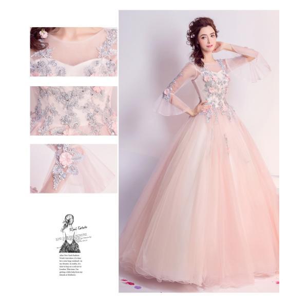 ウェディングドレス 二次会 ウエディングドレス ロング 二次会ドレス パーティードレス ロングドレス 花嫁ドレス カラードレス 結婚式|aozoras|08