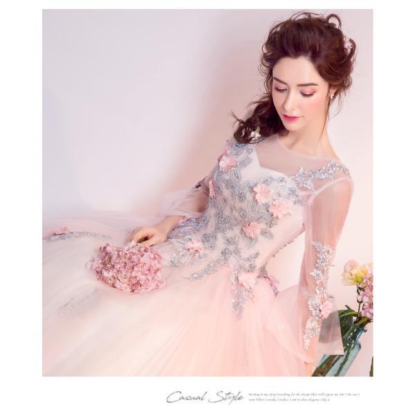 ウェディングドレス 二次会 ウエディングドレス ロング 二次会ドレス パーティードレス ロングドレス 花嫁ドレス カラードレス 結婚式|aozoras|09