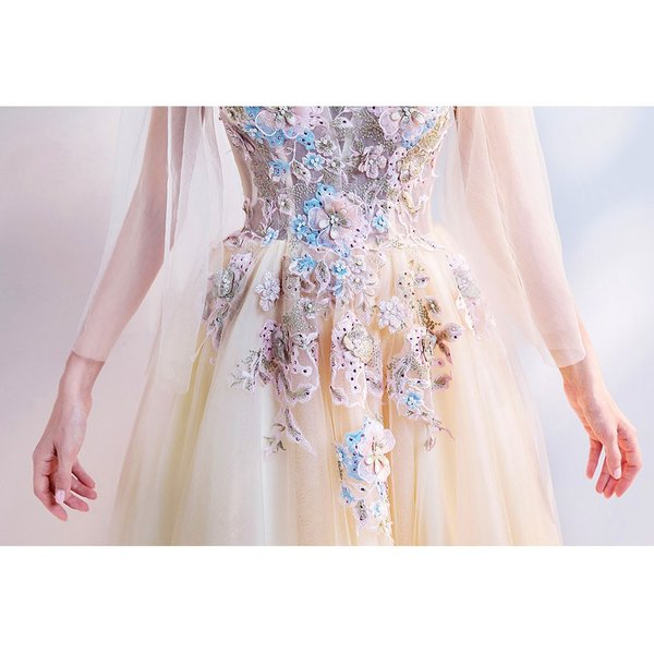 ウェディングドレス 二次会 ウエディングドレス ロング 二次会ドレス パーティードレス ロングドレス 花嫁ドレス カラードレス 大きいサイズ 結婚式 白 ホワイト|aozoras|11