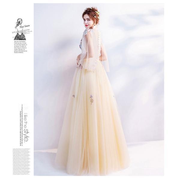 ウェディングドレス 二次会 ウエディングドレス ロング 二次会ドレス パーティードレス ロングドレス 花嫁ドレス カラードレス 大きいサイズ 結婚式 白 ホワイト|aozoras|09