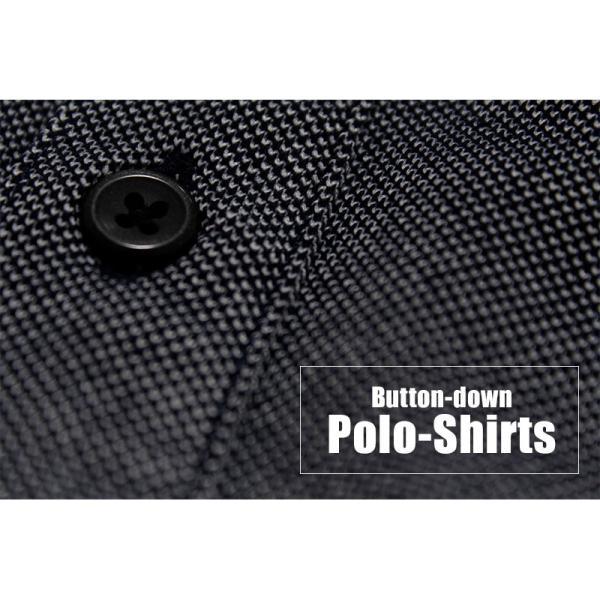 ポロシャツ メンズ トップス ボタンダウンポロシャツ 半袖 無地 半袖ポロシャツ ビジカジ ノータイ クールビズ|ap-b|02