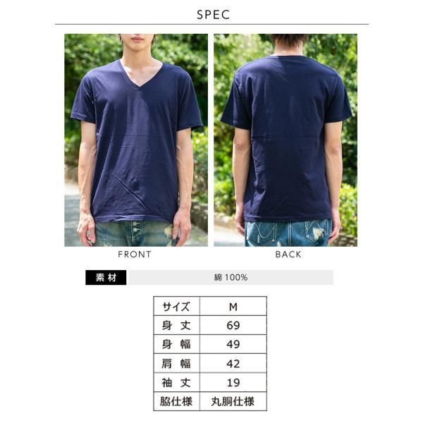 Vネック メンズ 半袖 Tシャツ ONZ ポッキリ コットン100 カットソー ネイビー 作業服 作業用シャツ インナー 送料無料|ap-b|10