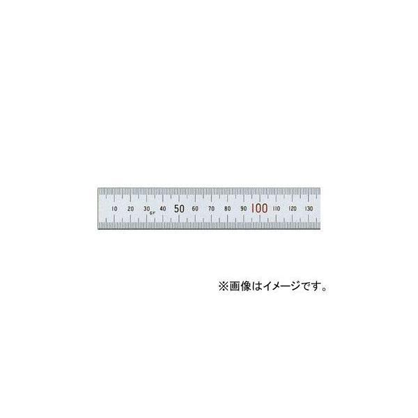 シンワ測定 直尺 シルバー 60cm 上下段1mmピッチ 赤数字入 JIS 13412 JAN:4960910134126