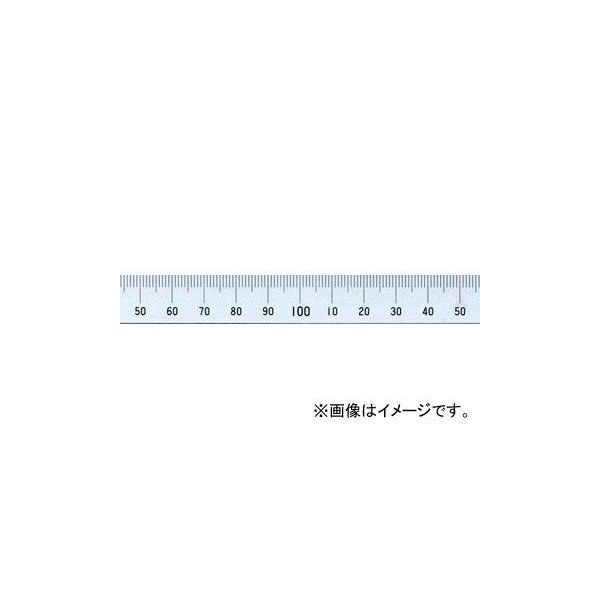 シンワ測定 マシンスケール 100mm 上段左基点目盛 穴なし 14128
