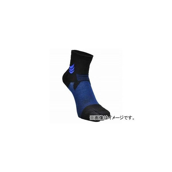 2輪 山城謹製 ハイグリップメッシュソックス[タビ] BLUE ショート 選べる2サイズ YKS-002