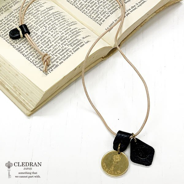 クレドラン CLEDRAN アパカバール? 別注(ACCENT) LARGE PLATE NECKLACE (CL-1543) (BLACK)|apakabar-style